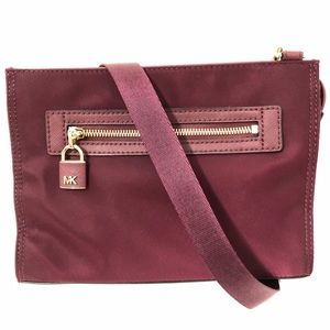 Michael Kors Jane Crossbody Bag Burgundy New